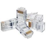 Conectores Rj-45 P/cable Utp Cat5e Agi-1412 100 Piezas