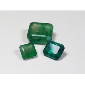 Conjunto Esmeraldas Naturais, 3 Pedras