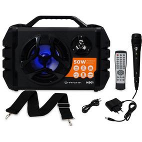 Caixa Hayonik 50w Bluetooth/microsd/usb/fm Hs01 Preta