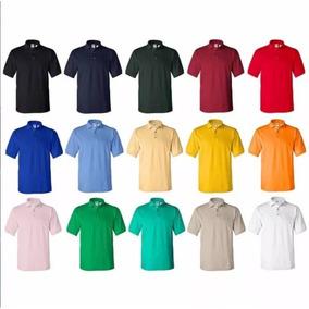 Chemises Unicolor Para Uniformes. Tela 100% Piquet Algodon. 499065d5a1a51