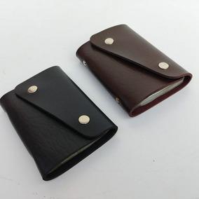 Kit 2 Carteiras Porta Cartões Crédito Visita Couro Sintetico