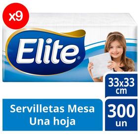 Servilleta Elite Clasica 33x33cm Para Coctel Pack X9
