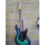 Guitarra Fernandes Retrorocket X Blue Flame.