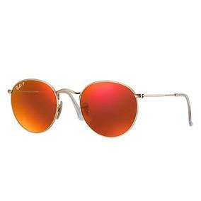 511db438f Oculos Redondo Espelhado Laranja De Sol Ray Ban Round - Óculos no ...