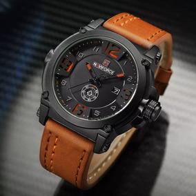 Relógio Masculino Militar Esportivo Naviforce Pulseira Couro