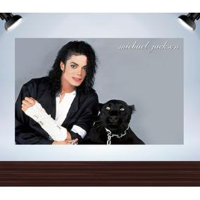 Poster Michael Jackson Onça Adesivado Tam 110x68cm
