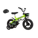 Bicicleta Track Bikes Kit Kat Aro 12 Com Capacete Seminova
