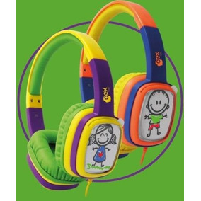 2 Fones De Ouvido Infantil Oex Hp302 + Giz De Cera + Cards