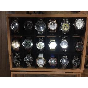 Linda Caixa Para Relógios Em Peroba Rosa Super Luxo!!!