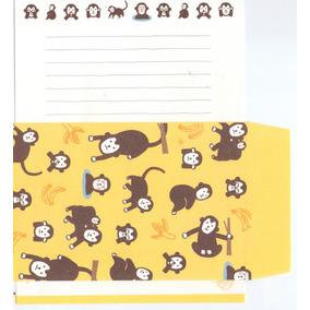 12 Papel De Carta + 6 Envelopes + 6 Adesivos - Sortidos