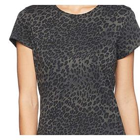 Calvin Klein Blusa Para Mujer Gris Talla L Animal Print Ck