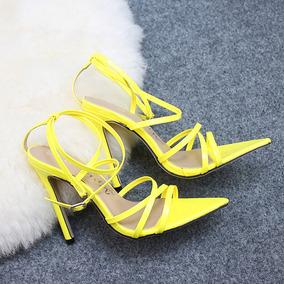Sandália Salto Alto Fino 11 Cm Sapato Feminino
