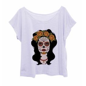 Blusa Feminina Estampada Plus Size Caveira Mexicana 1