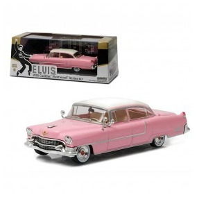 Carro Greenlight 1,43 Cadillac Elvis Presley Rosa 1955
