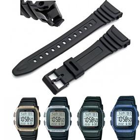 Pulseira Relógio Casio W-96 Borracha Silicone - Frete Grátis