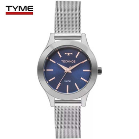 c6cdfc18b6a Relógio Feminino Mk Prata Fundo Azul - Relógios De Pulso no Mercado ...