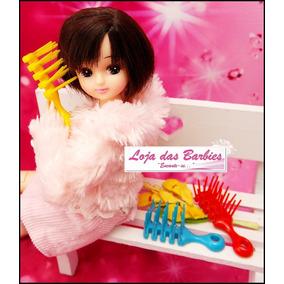 Escova De Cabelo P/ Boneca Blythe Pullip Licca Barbie Susi