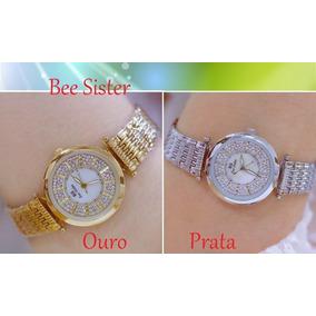 975cc03b99f Relógio Dumont Plaquê Ouro E Diamantes De Luxo - Relógios De Pulso ...
