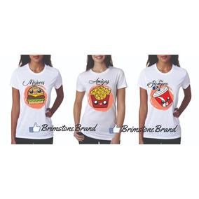 Playeras De Mejores Amigas (hamburguesa) en Mercado Libre México a640cb084042d