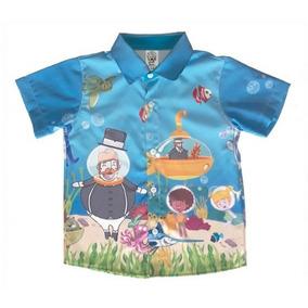 Camisa Temática Mundo Bita Fundo Do Mar d6853f4cd95