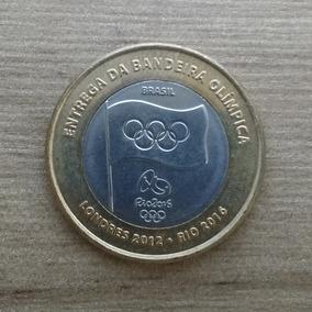 Moeda Comemorativa Entrega Da Bandeira Olímpica Rio 2016