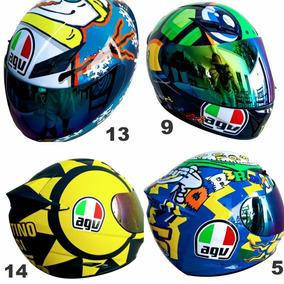 Capacete Valentino Rossi Italia Sol E Lua 2viseira Ade Agv