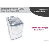 Manual Serviço Lava Seca Electrolux Lst12 Pdf Envio Digital