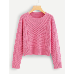 Sueter Tejido Rosa Mujer - Ropa 305d6233d613