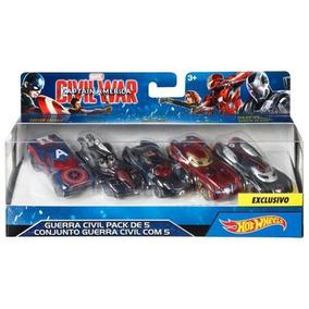 Carritos Hot Wheels Capitan America Iron Man