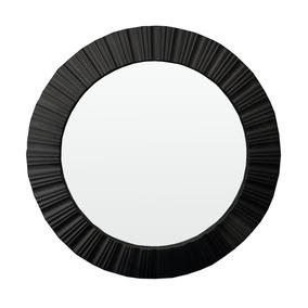 Espelho Retro Decoralçao Sala Decoração Preto 51x51x4 5 Cm
