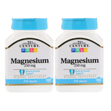 Magnésio 250 Mg 21st Century 2x 110 Tabletes Importado Eua