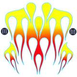 Ka Mixer Decal Kit Classic 21 Flame Rojo, Naranja Y Amarillo