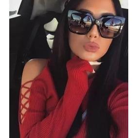 32b0eb8143cc8 Óculos De Sol Feminino Chic Lançamento Quadrado Luxo
