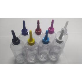 100 Frascos Plastico 100ml Vazio + Bico Aplicador F0100b18