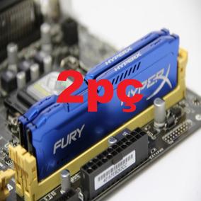 2 Memória Gamer Kingston Hyperx Fury Ddr3 4gb 1333 Azul