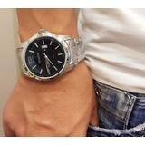 99efca3d958 Relógio Masculino Atlantis Original Prata Dourado Pulso