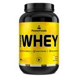 Power Whey Protein 907g - Powerfoods - Sabor Morango