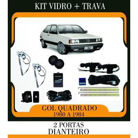 Kit Vidro Elétrico Gol Quadrado Sensorizado + Trava