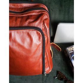 Mochila De Couro Artesanal - Unisex Viagem, Trabalho/laptop