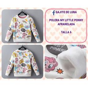 Polera My Little Ponny Afranelada Para Niñas