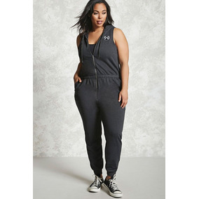 b315569309 Forever 21 Plus Size Jumpsuit Jumper Overol Gris Oscuro 1xl