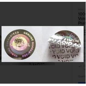 50 Selos Holográficos Void Original Genuine Prata 20mm
