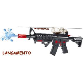 Metralhadora M4 Tipo Nerf Atira Bolas De Gel Pronta Entrega