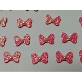 Laço Da Minnie Em Eva Com Glitter. 25 Unidades