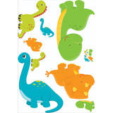 Kit Display Chão Dinossauro Baby 8 Peças Totens,mdf3mm