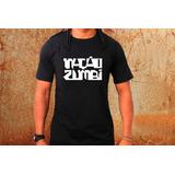 Camiseta Nação Zumbi Camisa Blusa Preta Banda Rock R77