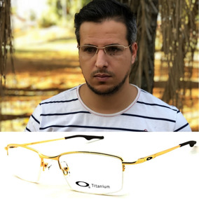 6acbebf124ebf Oculos Masculino Grau - Óculos Armações Dourado no Mercado Livre Brasil