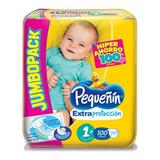 Pañal Bebe Pequeñín Etapa 1 Extraproteccion Por 100 Unidades