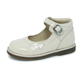 Zapatos Casuales De Charol Para Niña Color Beige 15-17.5