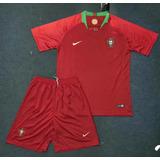 7531f5a1d3 Kit Camisa Com Short Portgual Vermelho- Frete Grátis
